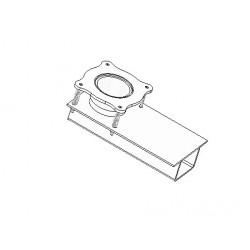 Exhaust gas exhaust connector - bottom part