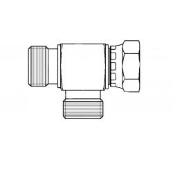 Hydraulic hand pump connector