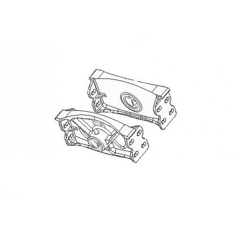 Servomotor bottom fixing element