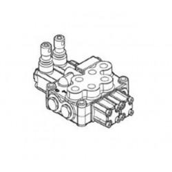 Separating valve, sectional monoblock